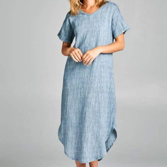 7df59754fb Denim Maxi Dress (nursing friendly)